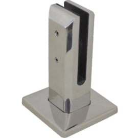 S/S Spigot Square 50x50x154mm G316 with Cover Satin